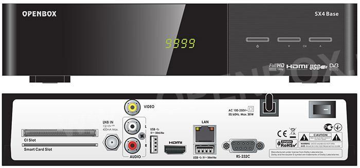 Openbox SX4 Base+ HD.