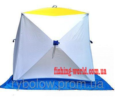 Фото Зимняя рыбалка, Зимние палатки Палатка зимняя для зимней рыбалки на алюминиевом каркасе КУБ