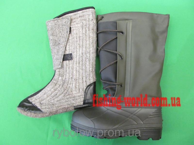 Фото Обувь для рыбаков и охотников Сапоги зимние Псков Полимер ОХ12 РС с вкладышем