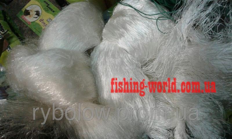 Фото Сети (ДЛЯ ПРОМЫШЛЕННОГО ЛОВА), Сети рыболовные одностенные (для промышленного лова), Вшитый груз Сеть рыболовная  (НИТКА, одностенная, ВШИТЫЙ ГРУЗ ) 1.8х100 ячейка 55