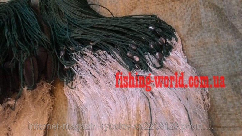 Фото Сети (ДЛЯ ПРОМЫШЛЕННОГО ЛОВА), Сети рыболовные трехстенные (для промышленного лова), Груз дробинка Сеть рыболовная(НИТКА,сетка трехстенная)длинна 100 высота 3 м ячейка 80  (ДЛЯ ПРОМЫШЛЕННОГО ЛОВА)