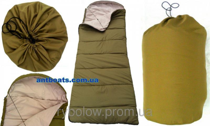 """Спальный мешок туристический спальник одеяло с капюшоном """"Турист-Комфорт"""""""