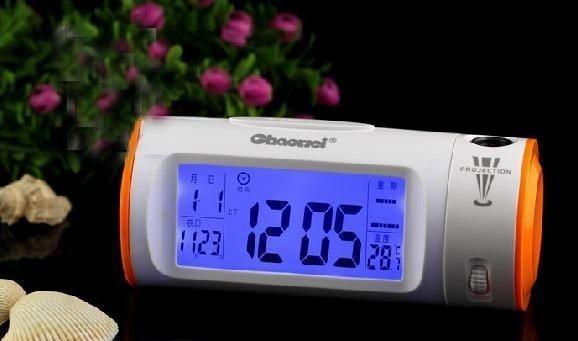 Часы CW 8097 с проектором , будильником , термометром и подсветкой