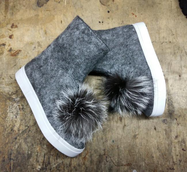 Ботинки из валяной шерсти мега крутые