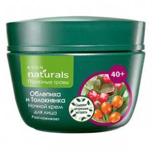 Фото Серия Naturals 40+(полезные травы) Ночной крем для лица «Облепиха и Толокнянка»