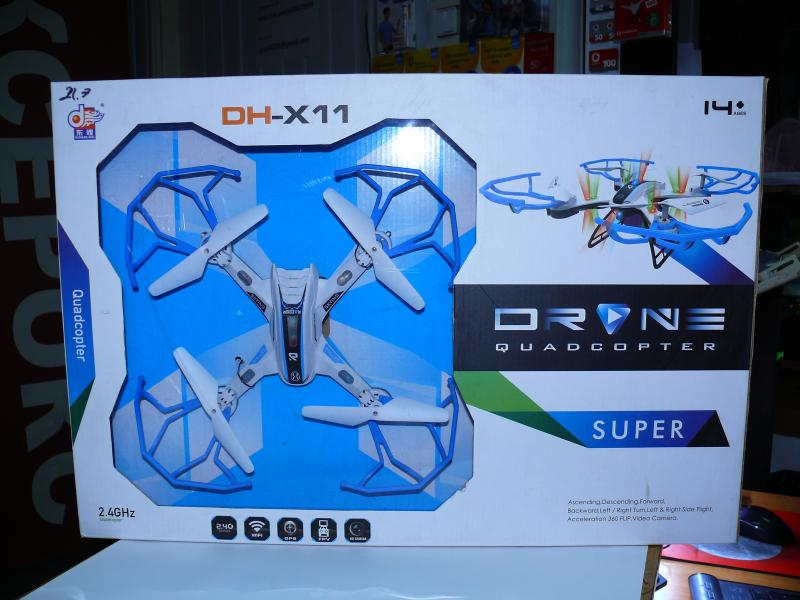 Квадрокоптер DH-X11 с автовозвратом, подсветкой 36х36 см.