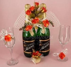 Фото Акции и спецпредложения свадебного салона Мендельсон в Москве Набор свадебный Чайная Роза