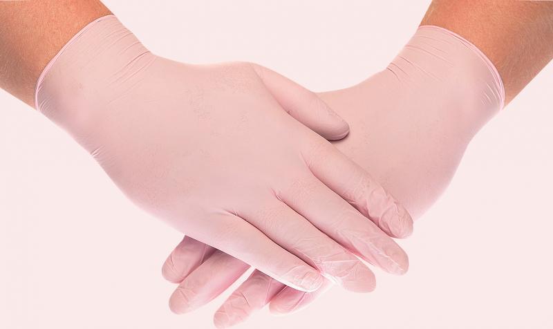 Перчатки нитриловые (розовые) Medicare(100шт)