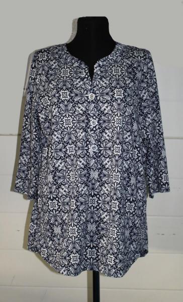 """Туника-Рубашка """"Вензеля"""" кулирка арт. 0558 Размеры: 50-64"""