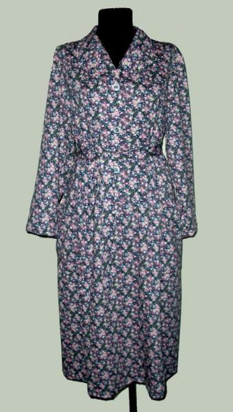 """Платье кулирка длинный рукав """"Цветочки"""" Р-ры: 46-60, в наличии 3 ряда"""