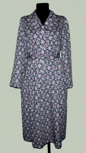 """Фото Платье Кулирка Платье кулирка длинный рукав """"Цветочки"""" Р-ры: 46-60, в наличии 3 ряда"""