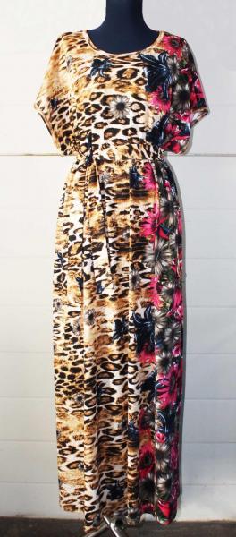 """Платье длинное""""Лео"""", арт. 0445 р-ры:50-64, 1 ряд"""