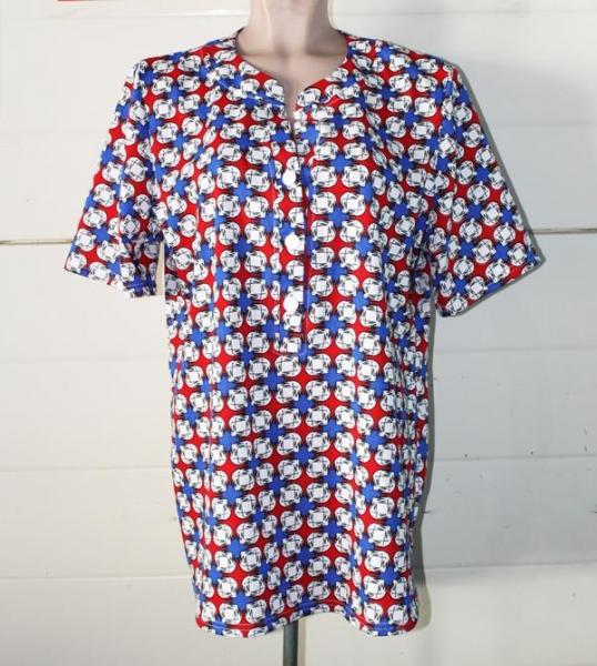 """Блуза рубашка """"Клетка"""" рукав до локтя Размеры: 50-64, остался 1 ряд"""
