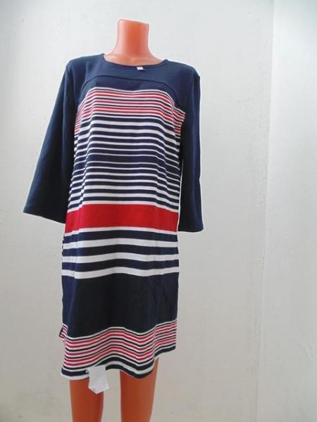 Туника-платье  интерлок комбинированная 100-1, р-ры: 46-48, по 1 товару