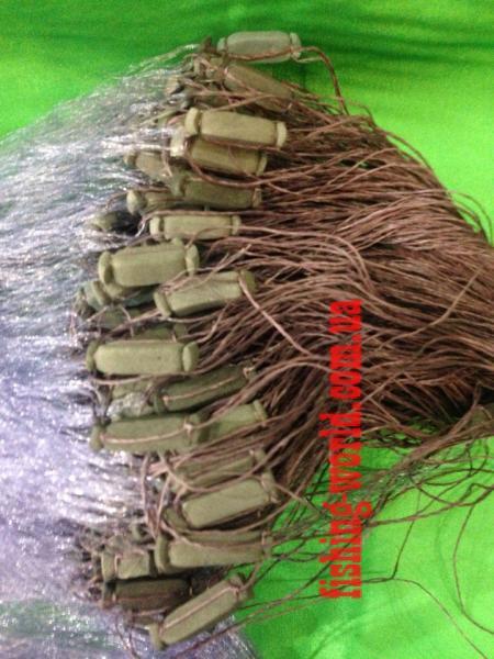 Фото Сети (ДЛЯ ПРОМЫШЛЕННОГО ЛОВА), Сети рыболовные одностенные (для промышленного лова), Груз дробинка Сеть рыболовная  (одностенная, синяя)  100х1.8 м ячейка 70 ДЛЯ ПРОМЫШЛЕННОГО ЛОВА