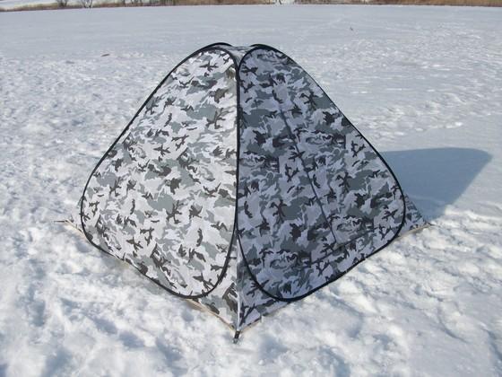 Зимняя палатка (палатка для зимней рыбалки) белый камуфляж 2х2