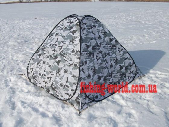 Фото Зимняя рыбалка, Зимние палатки Зимняя палатка (палатка для зимней рыбалки) белый камуфляж 2х2