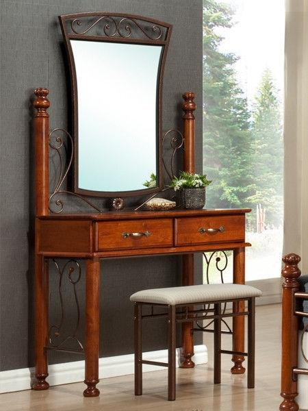 "Будуарный стол, зеркало и пуф ""Бавария"""