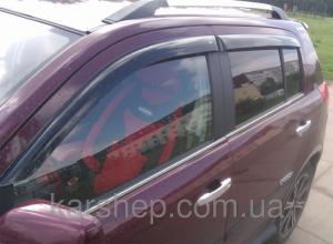 Фото Дефлекторы окон и капота (ветровики, мухобойки), Дефлекторы окон(ветровики) Cobra Tuning, Дефлекторы окон, ветровики для автомобиля Geely Ветровики на Geely MK Cross 2010