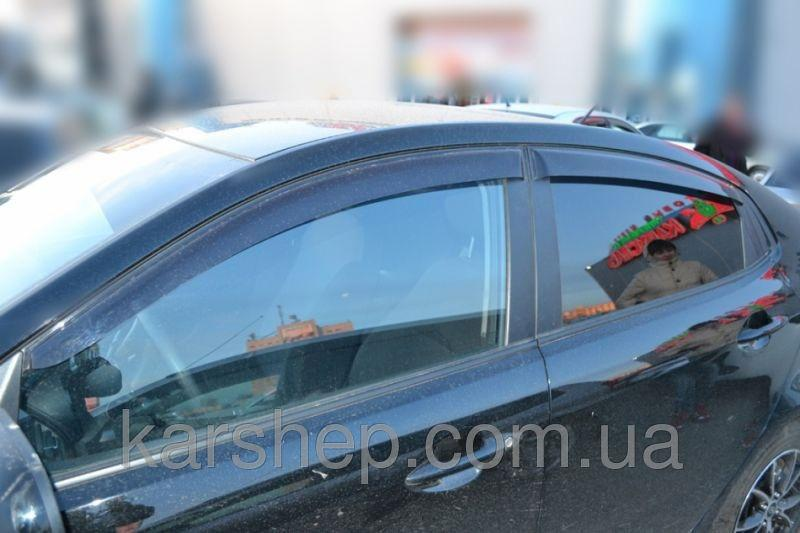 Ветровики на  Kia Rio III Sd 2010/K2 Sd 2011