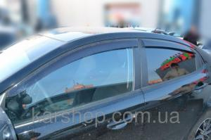 Фото Дефлекторы окон и капота (ветровики, мухобойки), Дефлекторы окон(ветровики) Cobra Tuning, Дефлекторы окон, ветровики для автомобиля Kia Ветровики на  Kia Rio III Sd 2010/K2 Sd 2011