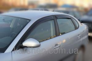 Фото Дефлекторы окон и капота (ветровики, мухобойки), Дефлекторы окон(ветровики) Cobra Tuning, Дефлекторы окон, ветровики на автомобиль Seat Ветровики на Seat Cordoba III Sd 2003