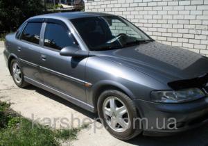 Фото Дефлекторы окон и капота (ветровики, мухобойки), Дефлекторы окон(ветровики) Cobra Tuning, Дефлекторы окон, ветровики на автомобиль Opel Ветровики на Opel Vectra B Sd 1996-2002