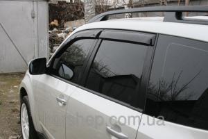 Фото Дефлекторы окон и капота (ветровики, мухобойки), Дефлекторы окон(ветровики) Cobra Tuning, Дефлекторы  окон, ветровики на автомобиль Subaru Дефлектор окон на Subaru Forester II 2002-2008