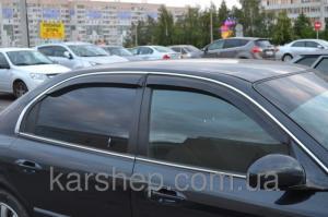 Фото Дефлекторы окон и капота (ветровики, мухобойки), Дефлекторы окон(ветровики) Cobra Tuning, Дефлекторы окон, ветровики на автомобиль Hyundai Ветровики на Hyundai Sonata IV Sd 1998-2004; Tagaz 2004