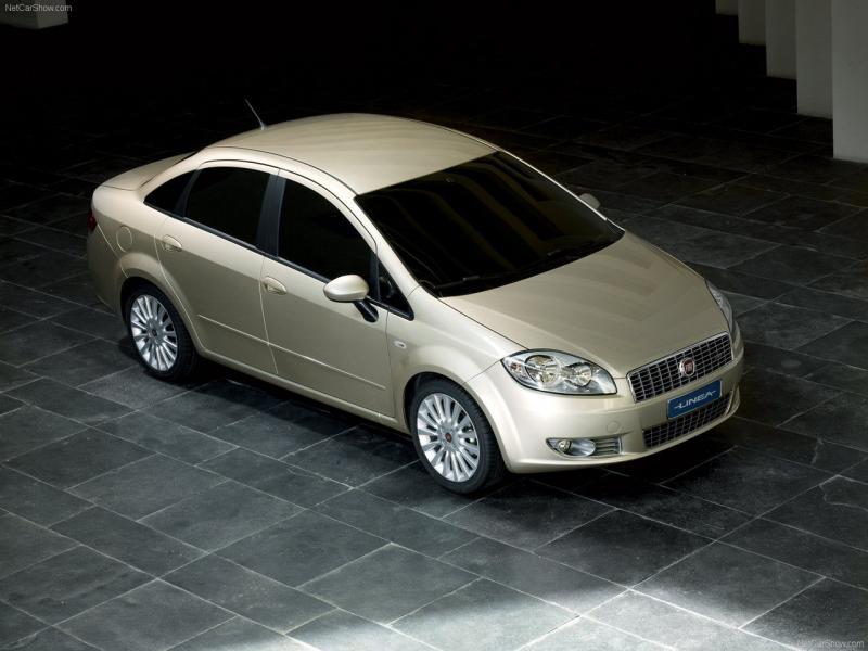 Ветровики для Fiat Linea с 2007 г.в