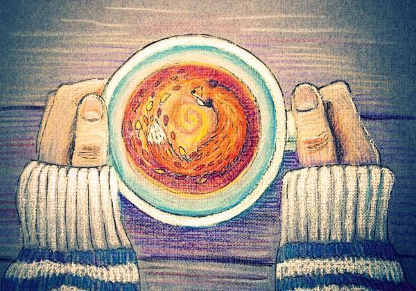"""Открытка """"Осенний чай"""""""
