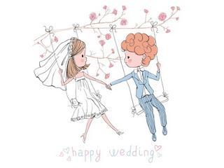 """Открытка """"Happy wedding"""""""