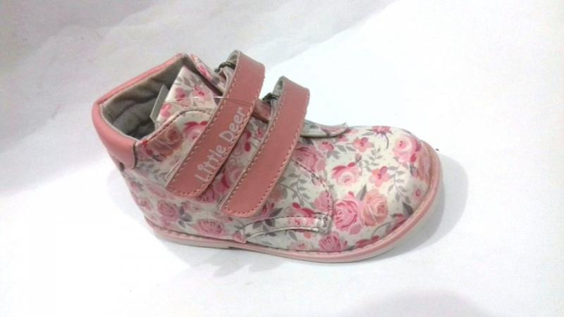 Детские демисезонные ботинки цветы B&G 22,23,25