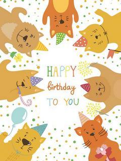 """Открытка """"Happy birthday to you"""""""