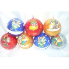 Новогодние шары Петух 10см. (код товара EIP2)