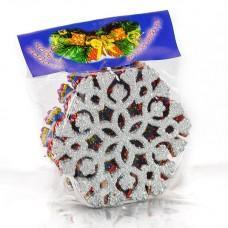 """Новогоднее украшение на елку """"Снежинка"""" 10см (код товара NY7)"""