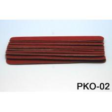 Пилочка 11,5 см. красная. уп. 10 шт. (код товара PKO-02)