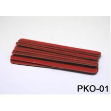 Пилочка 10 см. красная уп. 10 шт. (код товара PKO-01)