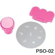 Печатка-штамп на листе(штамп, скрапер) (код товара PSO-02)