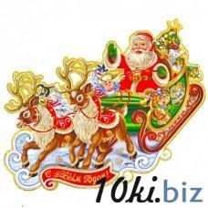 Новогодний стикер, панно на окно (код товара NNP29) Новогодний декор на Электронном рынке Украины