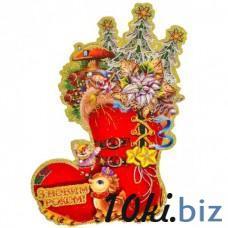 Новогодний стикер, панно на окно (код товара NNP9) Новогодний декор на Электронном рынке Украины