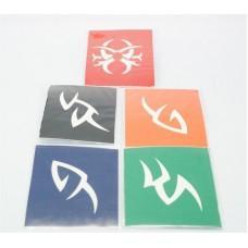 Трафарет для BIO-тату (цветные) (код товара ТТ-02)