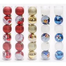 Новогодние шары 6см, 6шт. (код товара EIN14)