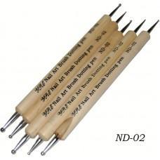Дотс в наборе деревянная ручка (5 шт.) (код товара ND-02)