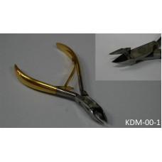 Кусачки для маникюра с зол. ручкой (код товара KDM-00-1)