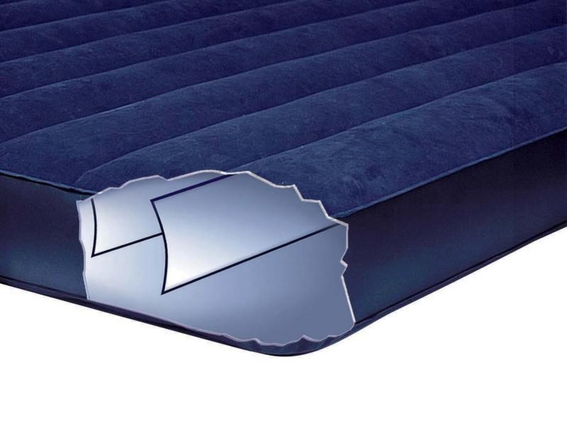 Фото Матрасы, надувные кровати Матрас 2 двухместный надувной  Intex 152х203х22 см. + 2 подушки и ручной насос