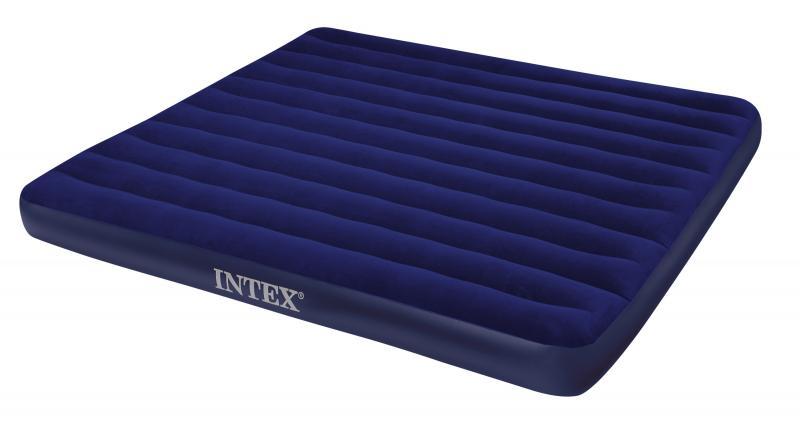 Матрас 2 двухместный надувной  Intex Classic Downy 183х203х22 см.