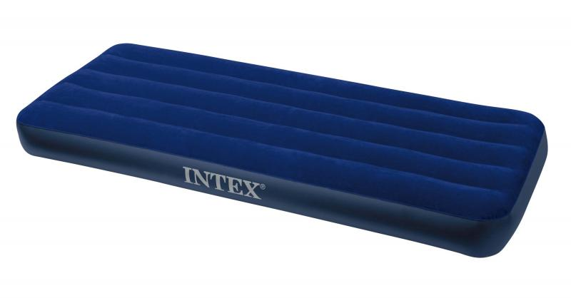 Матрас 1 одноместный надувной  Intex Classic Downy 76х191х22 см.