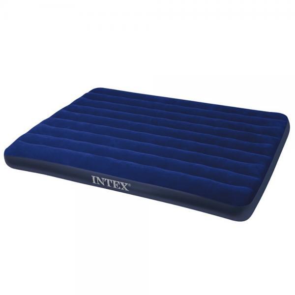 Матрас 1,5 полуторный надувной  Intex Classic Downy 137Х191Х22 см.