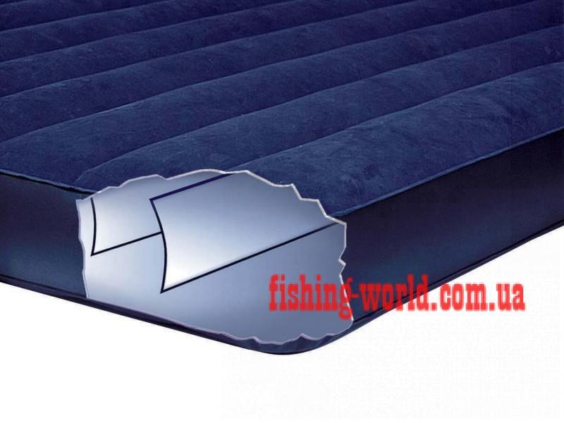 Фото Матрасы, надувные кровати Матрас 1,5 полуторный надувной  Intex Classic Downy 137Х191Х22 см.